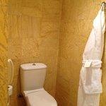 Toillet in bathroom