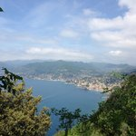 Camogli from the trail between Rocco and Batterie