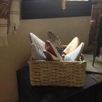 """Picture of some of the shoe""""s in Michele's shop"""