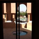 pavillon piscine le matin