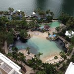 View from Ocean view room level 21 Amazing pool!!!