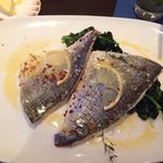 Whole filleted sea bream