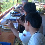 Breakfast at Lake Batur