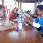 Lunch with tour guide Gede Sutapa