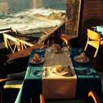 Comedor con vistas a las piscinas naturales