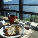 Delicious complimentary Italian-style breakfast with a view