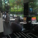 Dining/Lobby area gives feeling of being within tropical garden