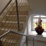 stairway down to restaurant