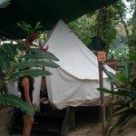 Zelt von aussen