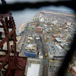 Views from the top of the Blackpool Tower