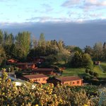 View of Blairgowrie Holiday Park lodges