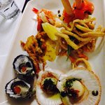 Entree seafood platter: amazing!