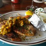 Blackend Snapper with Mango Sauce