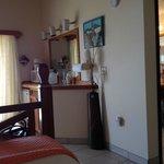 Hawksnest Room Microwave and Sink Area
