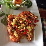 Tiger Prawn in Salt, chilli & garlic - YUMMY!