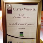 Winners of ulster's best casual dinning