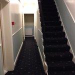 """L'escalier pour descendre a la """"cave""""."""