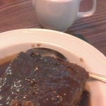 Superb sticky toffee pudding