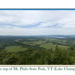 Pano from the top of Mt. Philo, VT