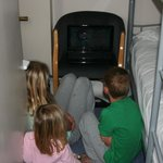 kids in their own bunk room (booked family suite)