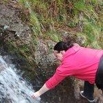 Drinking fresh mountain water