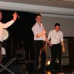 The men dancing.....