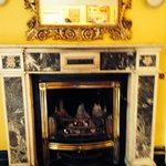 Entry room fireplace