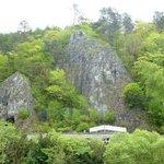 Felsformation über Hermannshöhle