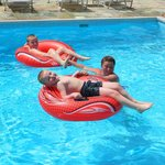 grandkids in pool