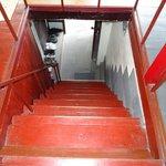 Treppe zum Hotel