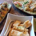 Deep fried tofu, crispy spicy tuna roll and double dynamite roll - fresh and tasty!