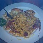 Penne cu lla Crema e Gamberetti with TWO prawns