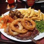 Big T-bone steak delicious !
