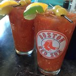 Spicy bloody Mary's are a great way to start the day!