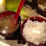 zuppa di miso con riso