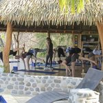 Yoga in the pavilion