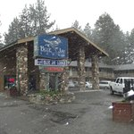 Surprise Snow Flurries in Mid-May!  Front of motel!