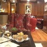 Bar seating and decor