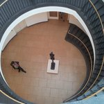 There are three floors of Picasso's work accessed from the central stairway in the dome