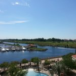 View of the Marina, Intercoastal and Golf Course from our condo.  Peaceful!