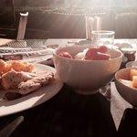 El desayuno sano y soleado