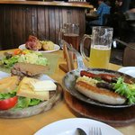 Bier, Käse und Würste