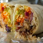 Arriba…..A medium pork burrito, great idea for lunch or a light snack.