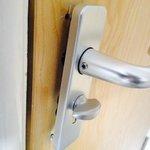door handle hanging off