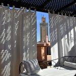 Vue de la Koutoubia de la terrasse
