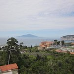 View overlooking the lemon orchards and the bay of naples.