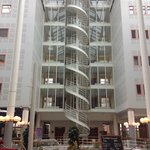 View of the nautical themed lobby