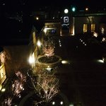 Our nighttime view of the courtyard