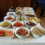 un tavolo del buffet