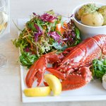 Local lobster with local Norfolk Peer new potatoes